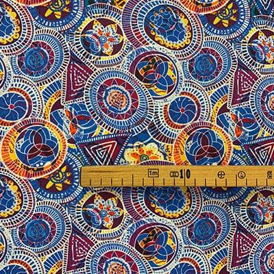 Tissu coton imprimé purplerain mètre