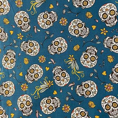 Tissu coton imprimé mexicain canard
