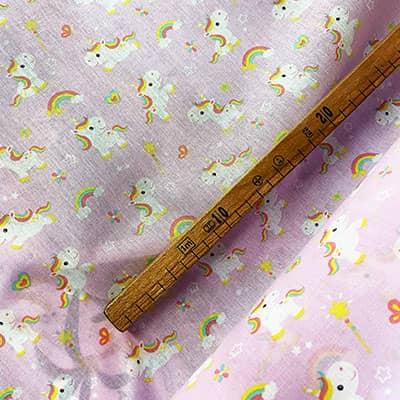 Tissu coton imprimé licorne bella