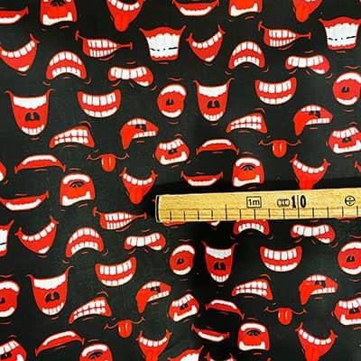 Tissu coton imprimé bouche mètre