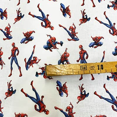 Tissu Disney Spider man mètre
