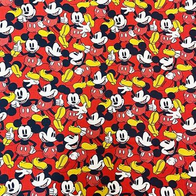 Tissu Disney mickey rouge