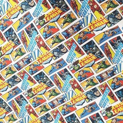 Tissu coton imprimé Justice league