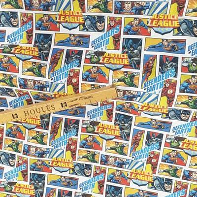 Tissu coton imprimé Justice league mètre
