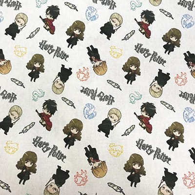 Tissu coton Harry Potter quidditch