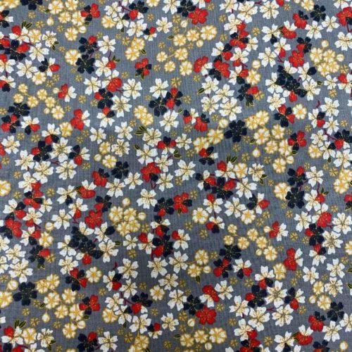 Tissu coton imprimé flore