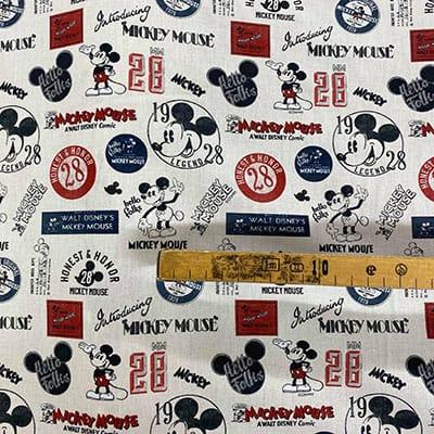 Tissu Disney mickey vintage mètre