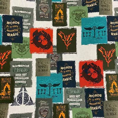 Tissu coton Harry Potter affiche