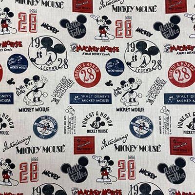 Tissu Disney mickey vintage