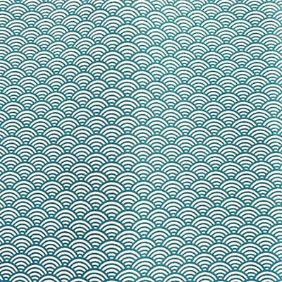 Tissu coton imprimé japoni bleu