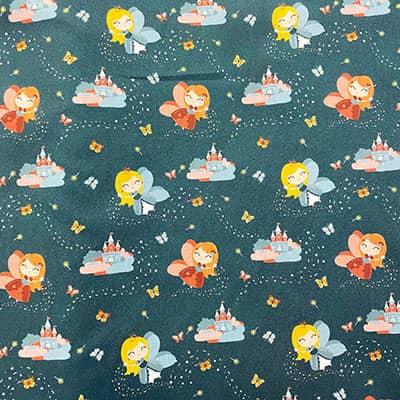 Tissu coton imprimé princesse canard