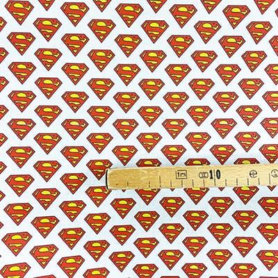Tissu coton imprimé super man mètre