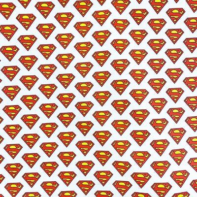 Tissu coton imprimé super man