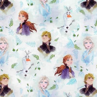 Tissu Disney Reine Des Neiges Bleu La Grange Aux Tissus